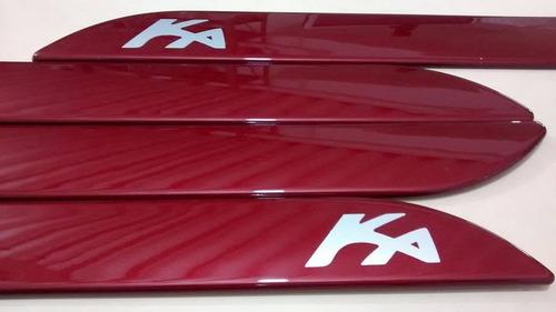 friso lateral ford ka vermelho merlot cor original