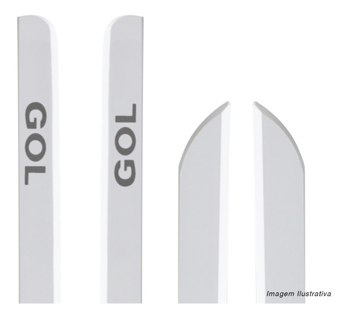 friso lateral gol g5 09 a 12 g6 2013 a 2019 branco cristal