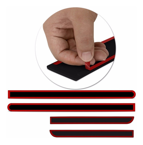 friso lateral hb20 hatch 2012 a 2018 vermelho cor original
