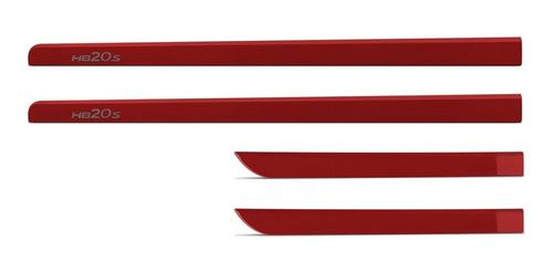 friso lateral hb20 sedan vermelho tropic 2013 a 2018
