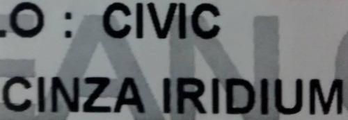 friso lateral honda new civic cinza iridium cor original