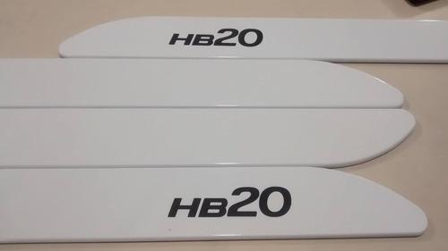 friso lateral hyundai hb20 branco cor original