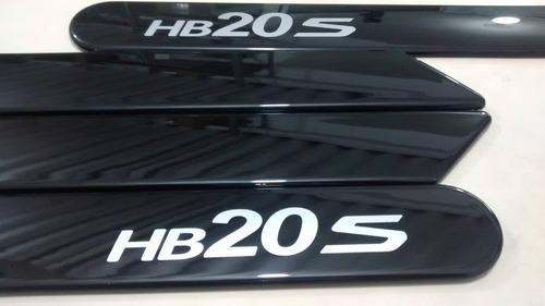friso lateral hyundai hb20s preto cor original