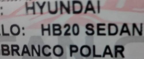 friso lateral hyundai hb20s sedan branco polar cor original