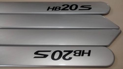 friso lateral hyundai hb20s sedan prata cor original