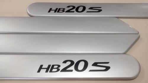 friso lateral hyundai hb20s sedan prata metal cor original