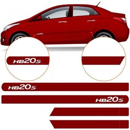 friso lateral hyundai hb20s sedan vermelho troppic original