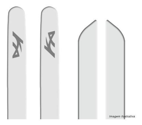 friso lateral ka hatch sedan 15 a 19 branco borrachão 4 pt