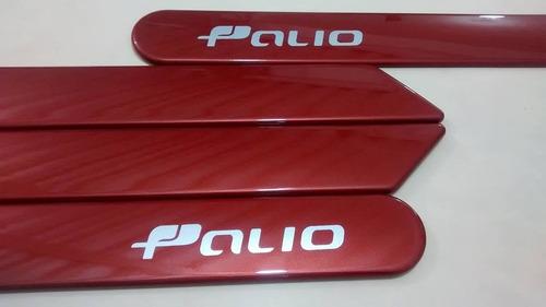 friso lateral novo fiat palio vermelho opullence original