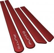 friso lateral novo fiat punto vermelho alpine  cor original