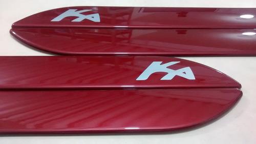 friso lateral novo ford ka vermelho metálico cor original