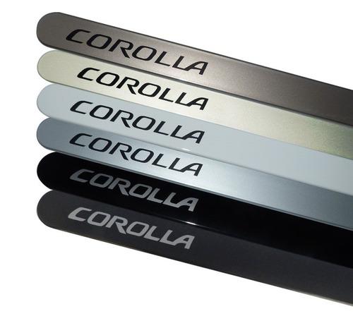 friso lateral toyota corolla bege austral cor original
