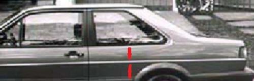 friso lateral traseira santana 84 85 2 porta ld preto origin