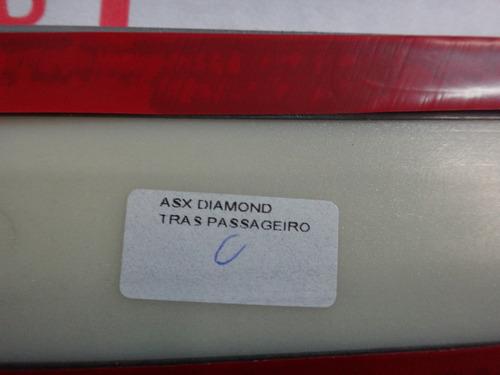 friso lateral traseiro mitsubishi asx prata cool a31 diamond