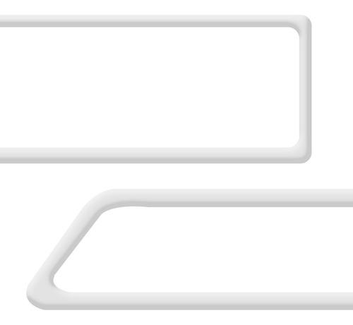 friso porta onix cromado 4 peças lateral