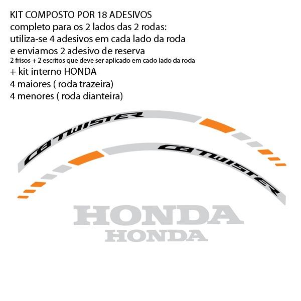 eb6d4369c03 Friso Refletivo Adesivo Full4 Roda Moto Honda Cb 250 Twister - R ...