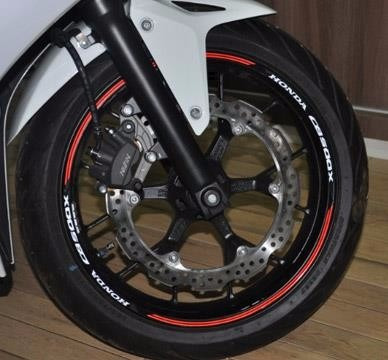 friso refletivo adesivo roda moto honda cb 500 x m5 completo