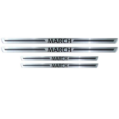 friso soleira nissan march new march - 1 ano garantia