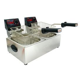 Fritadeira  Industrial Cotherm 2c 5 L Frita Fácil Prata 110v