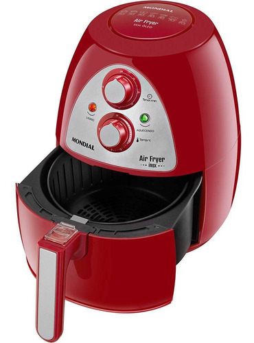fritadeira air fryer mondial inox red premium vermelho af-14