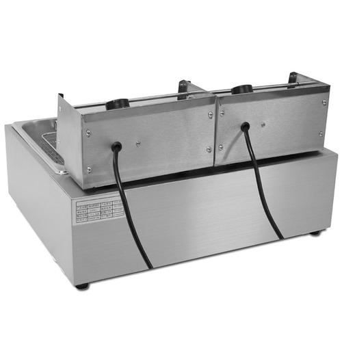 fritadeira elétrica 2 cubas 12 litros 220v com tampas grátis