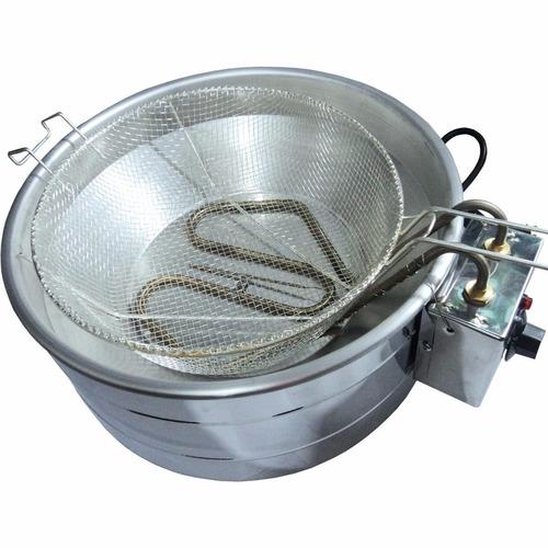 fritadeira elétrica 7 litros com termostato - inox - 220v