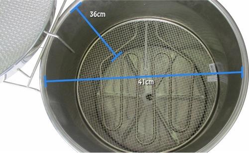 fritadeira elétrica água e óleo redonda 32 litros 5000w