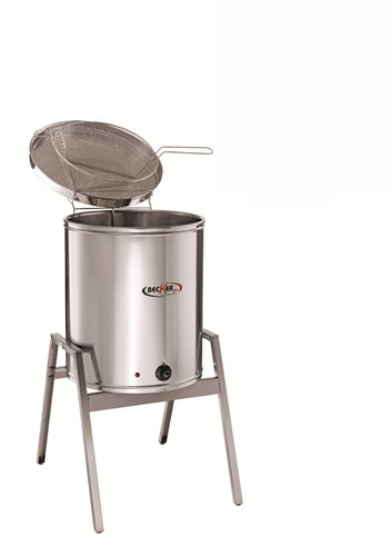 fritadeira elétrica água óleo inox industrial becker 25 l