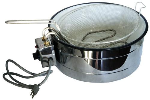 fritadeira elétrica c/ tacho esmaltado 7 lt industrial 220v