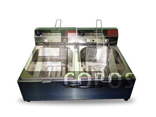 fritadeira elétrica industrial 02 cubas 02 cestos