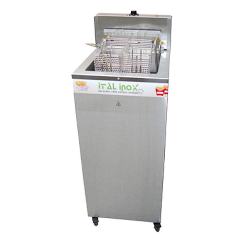 fritadeira eletrica industrial 24 litros agua/oleo *