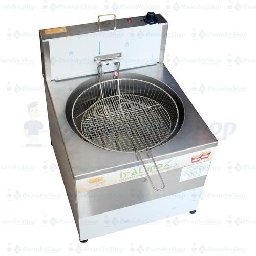 fritadeira elétrica industrial 24 litros redonda mesa *