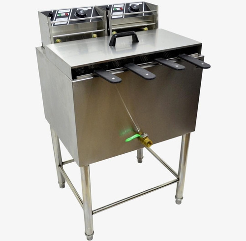 fritadeira elétrica industrial 4 cestos certificada inmetro