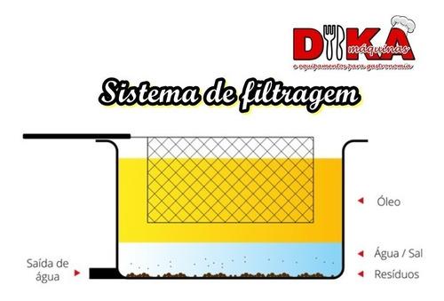 fritadeira elétrica industrial aguá e óleo 20 litros 5.500w