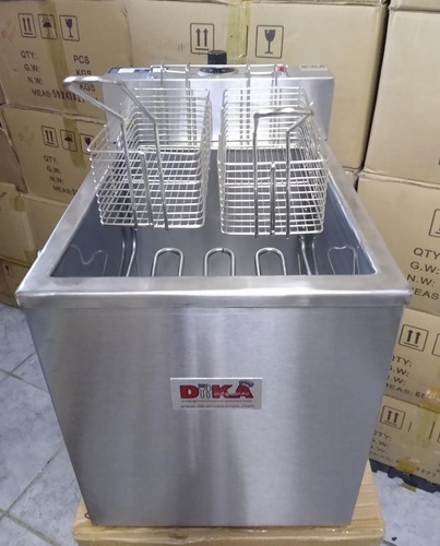 fritadeira elétrica industrial aguá e óleo 26 litros 5.500w