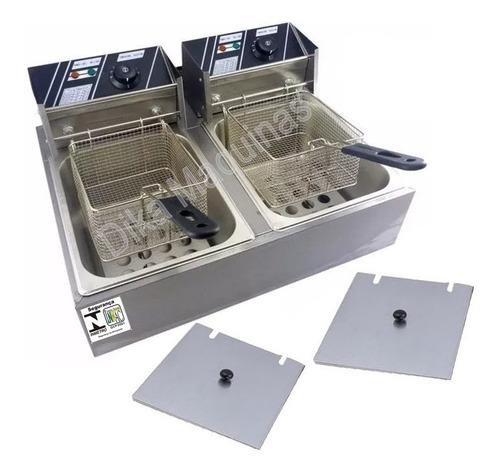 fritadeira elétrica industrial cuba aço inox 10 litros 110v