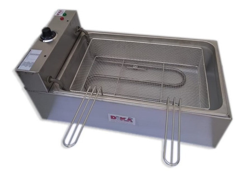 fritadeira elétrica industrial cuba aço inox 12 litros 5000w