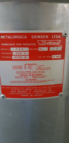 fritadeira eletrica industrial skymsem