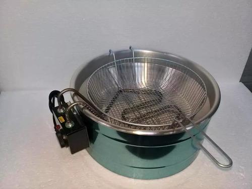 fritadeira elétrica industrial tacho alumínio 7litros