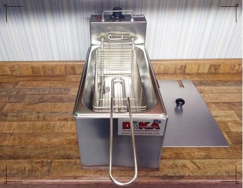fritadeira elétrica profissional 1 cuba 3 litros com tampa