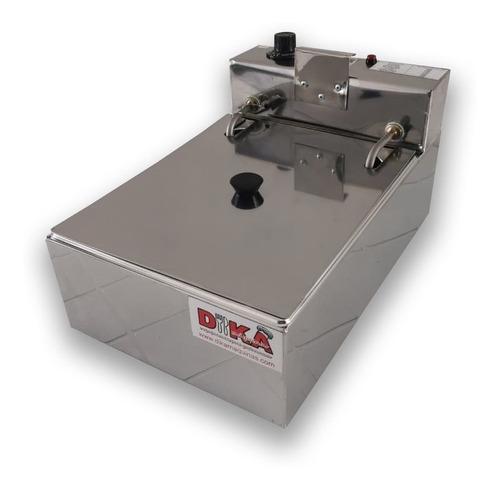 fritadeira elétrica profissional 1 cuba 5 litros com tampa
