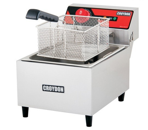 fritadeira elétrica profissional 4,5 litros de óleo croydon