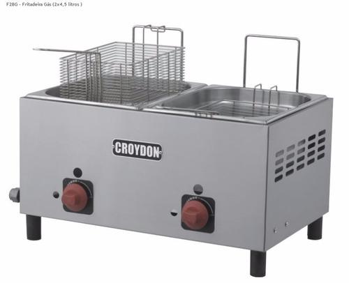 fritadeira gás 2 depósitos de 4,5 litros f2bg croydon