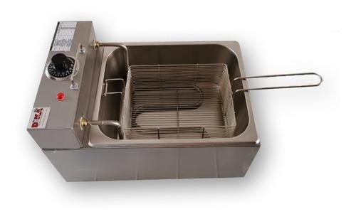 fritadeira industrial elétrica inox 6 litros estilo tedesco