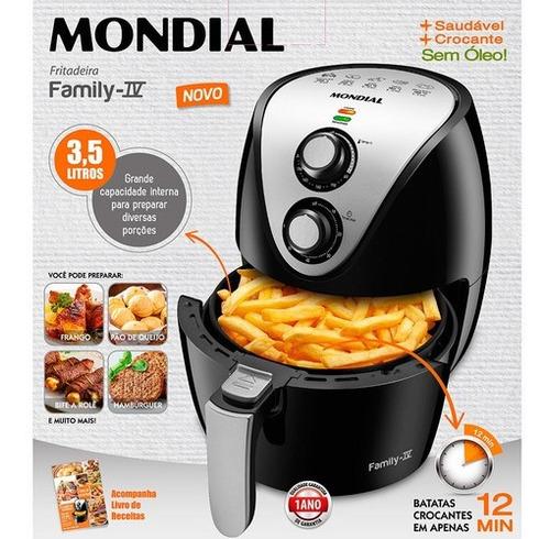 fritadeira mondial air fryer super família 3,5 lts af-30