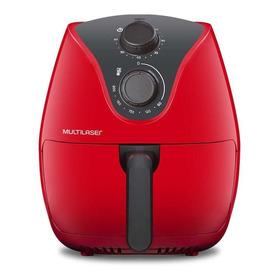 Fritadeira Sem Óleo Multilaser Gourmet Air Fryer 4 L Vermelha 110v