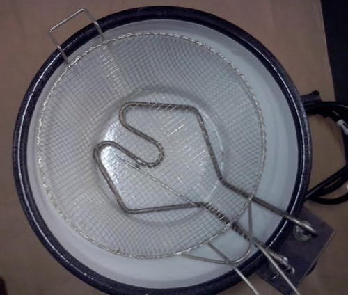fritadeira /tacho elétrico esmaltado 3 litro termostato 110v