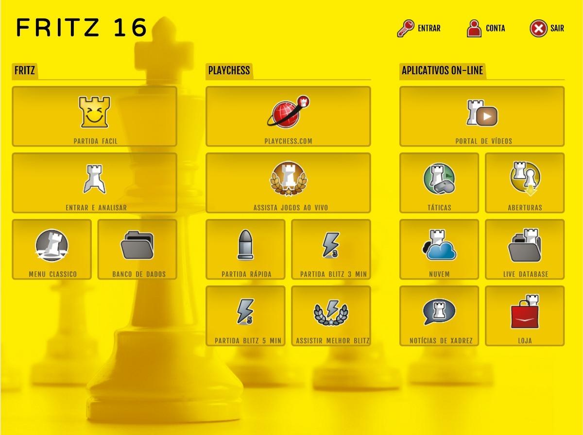 Fritz 16 + Chessbase 15 + Komodo 13 Em Ptbr + 16 Powerbooks