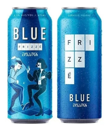 frizze evolution blue lata 473ml x12