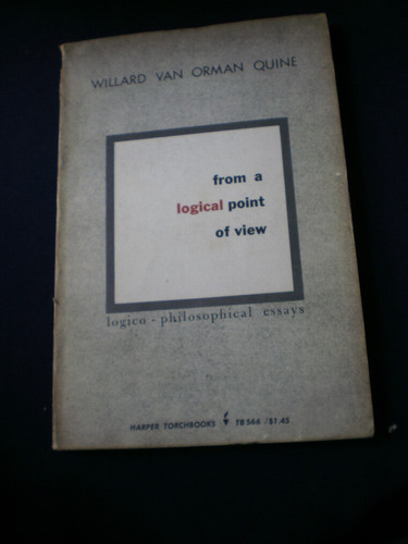 from a logical point of view - willard van orman quine